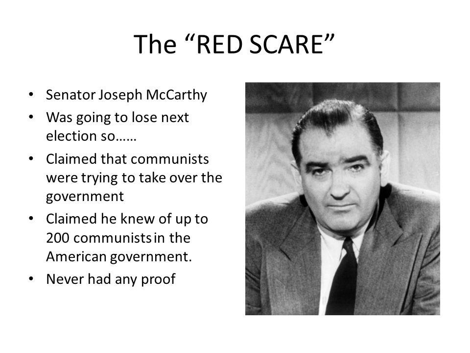 The RED SCARE Senator Joseph McCarthy