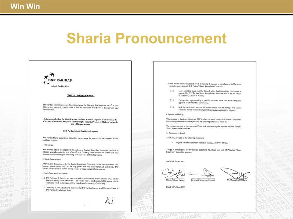 Sharia Pronouncement
