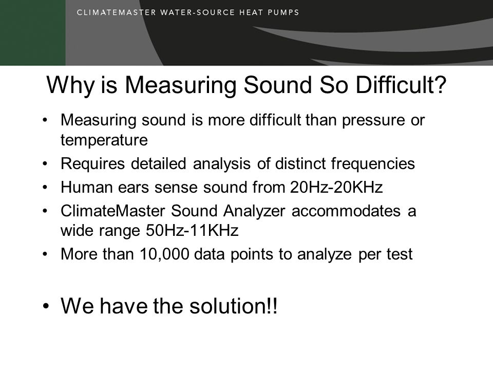 Why is Measuring Sound So Difficult