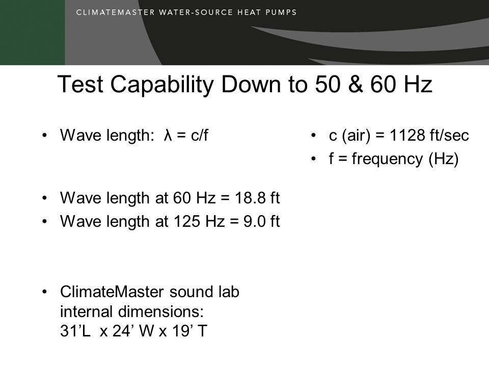 Test Capability Down to 50 & 60 Hz