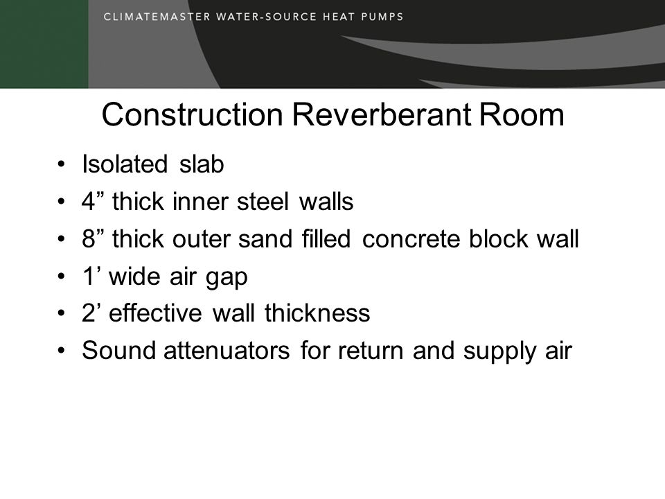 Construction Reverberant Room