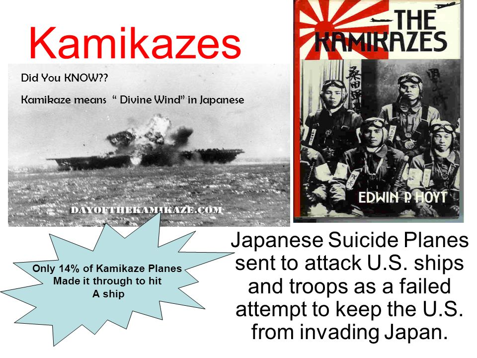 Only 14% of Kamikaze Planes