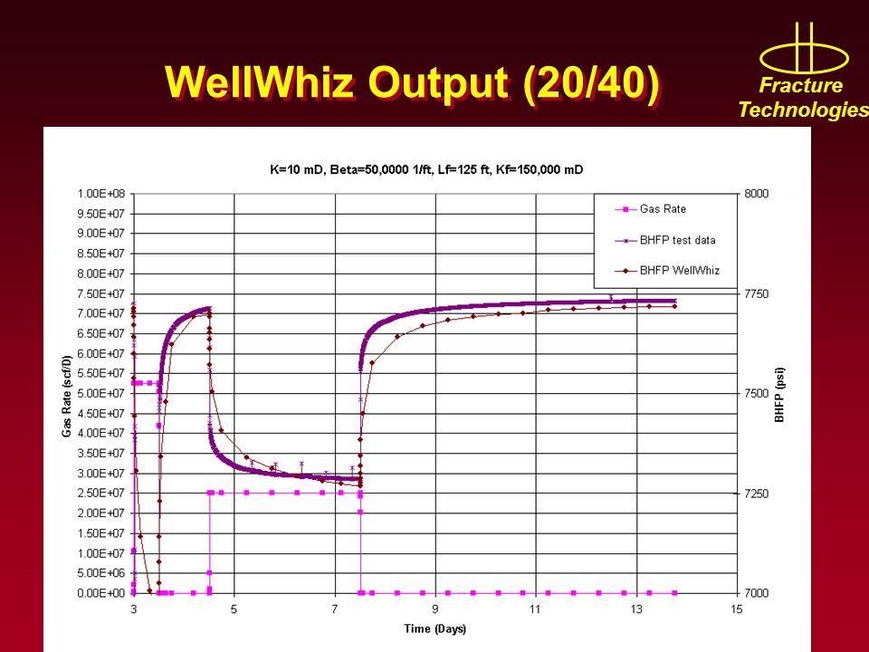 WellWhiz Output (20/40)