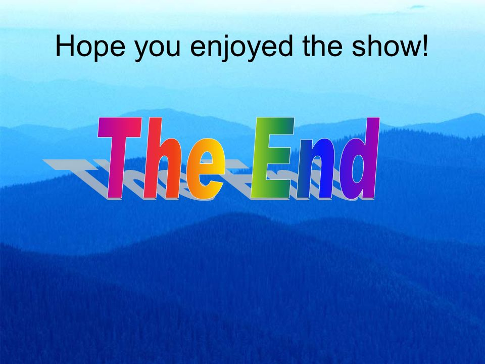 Hope you enjoyed the show!
