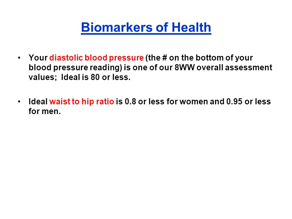 Biomarkers of Health