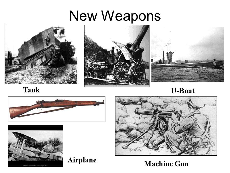 New Weapons Tank U-Boat Airplane Machine Gun