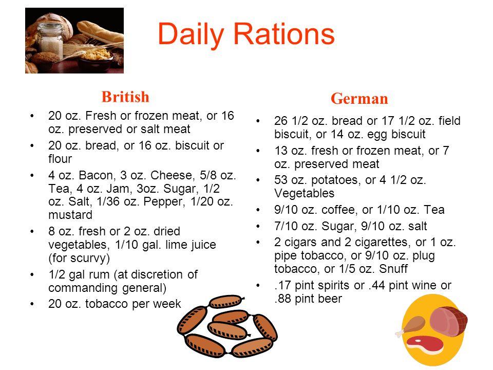 Daily Rations British German