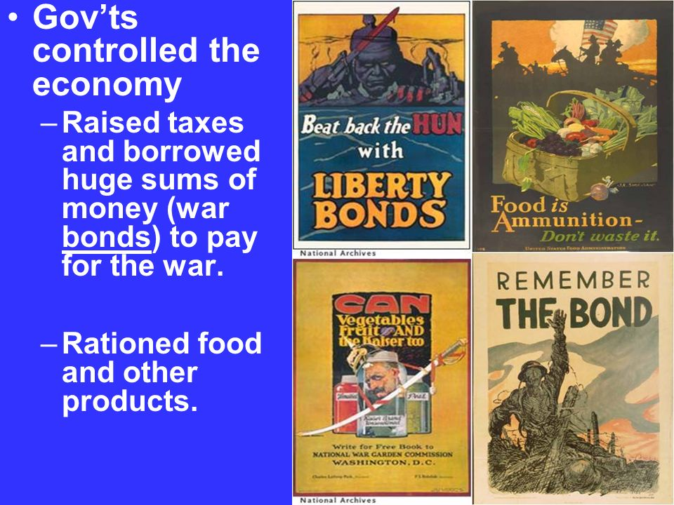 Gov'ts controlled the economy