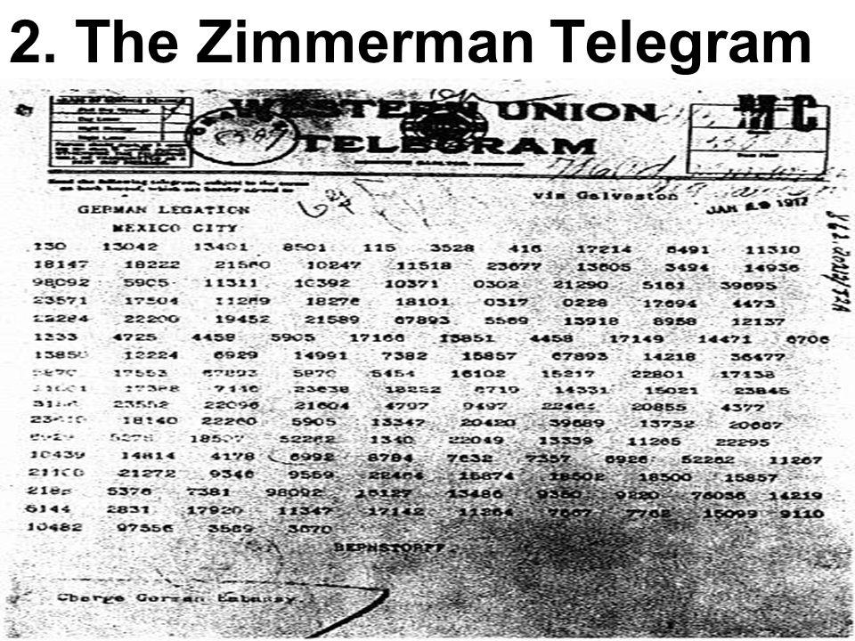 2. The Zimmerman Telegram