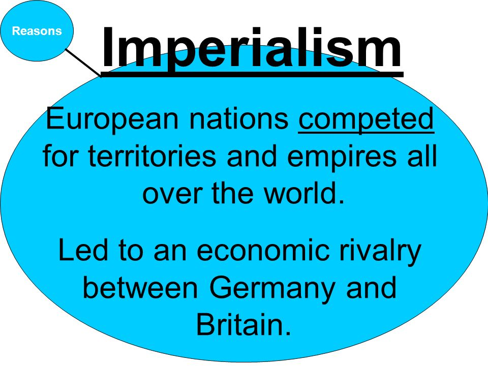 Imperialism European nations competed for territories and empires all