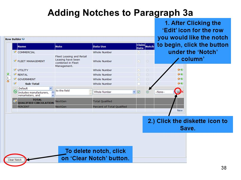 Adding Notches to Paragraph 3a