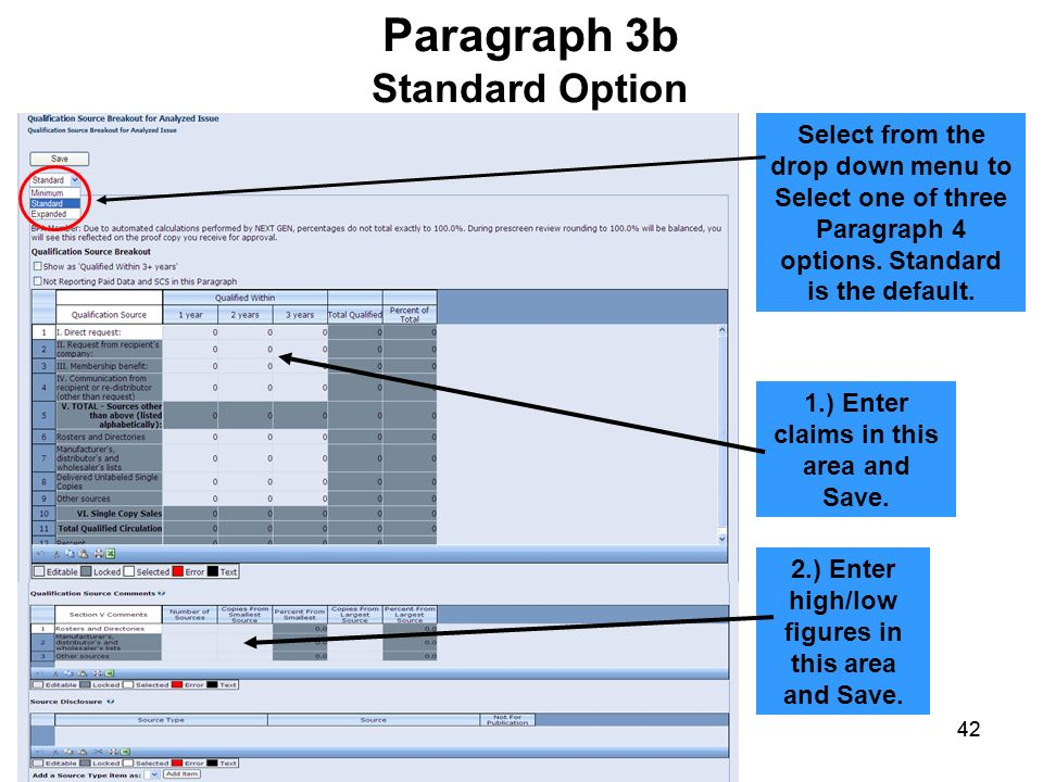 Paragraph 3b Standard Option