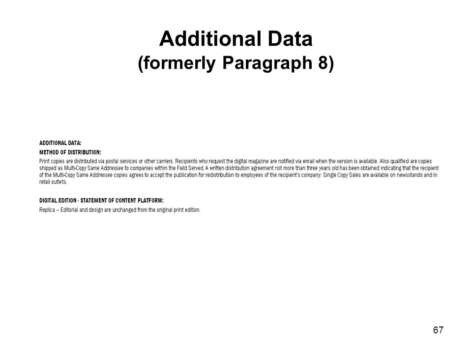 Additional Data (formerly Paragraph 8)
