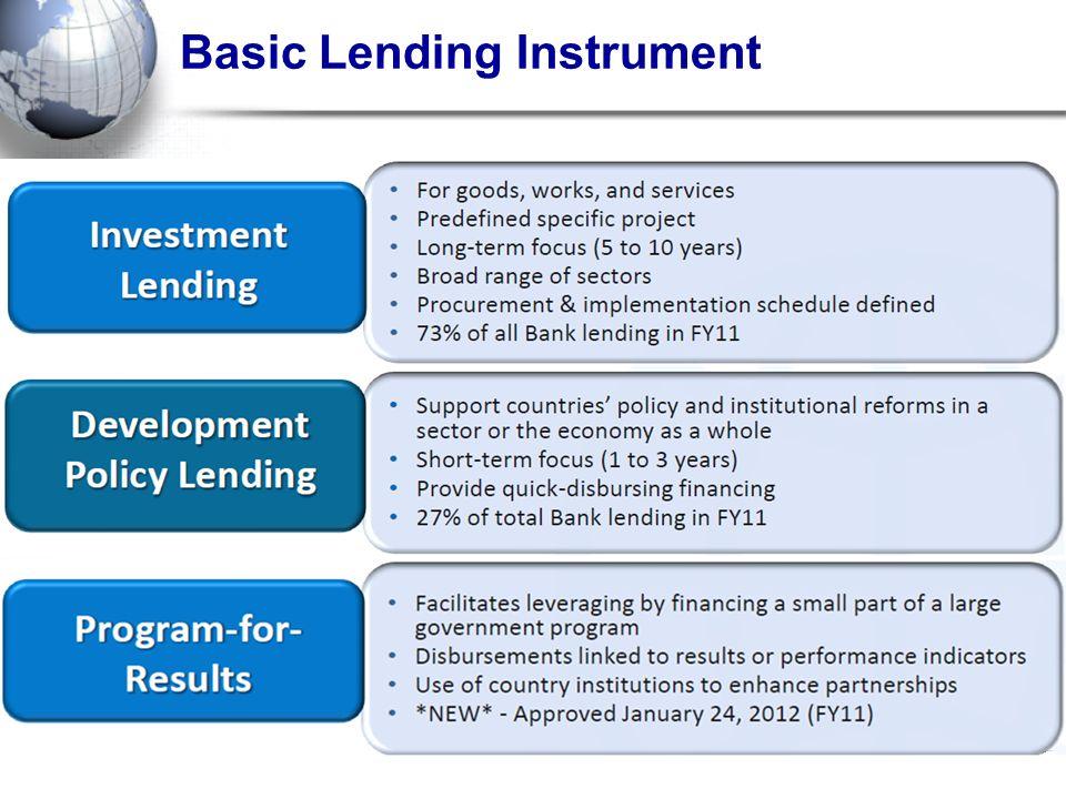 Basic Lending Instrument