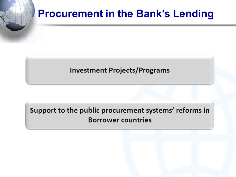 Procurement in the Bank's Lending