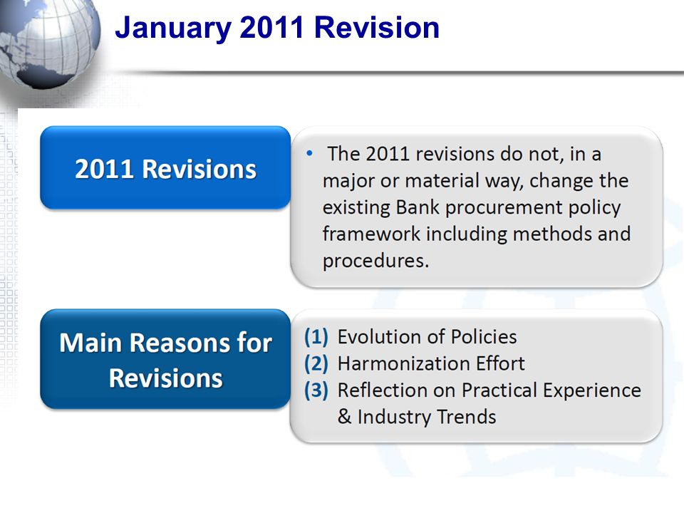 January 2011 Revision