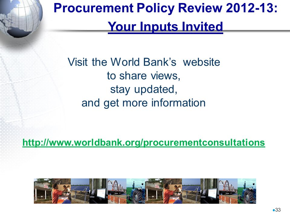 Procurement Policy Review 2012-13: