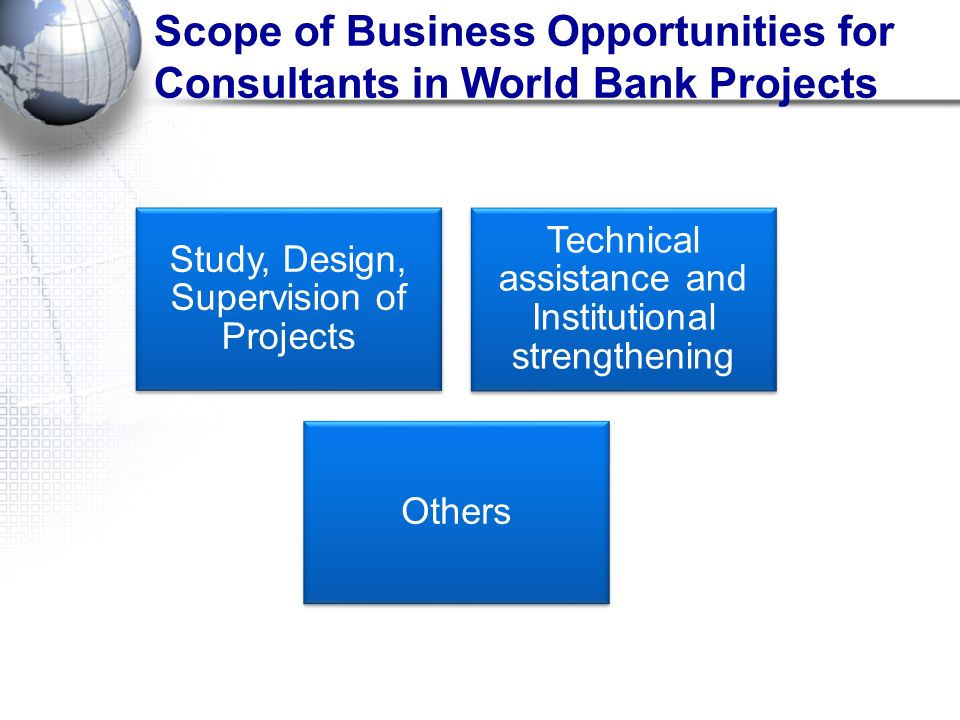 Scope of Business Opportunities for Consultants in World Bank Projects