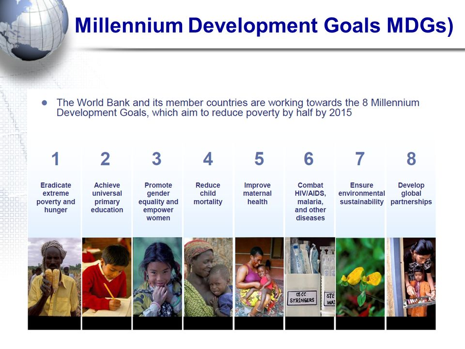 Millennium Development Goals MDGs)