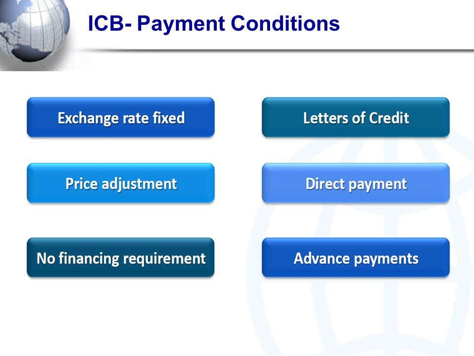 ICB- Payment Conditions