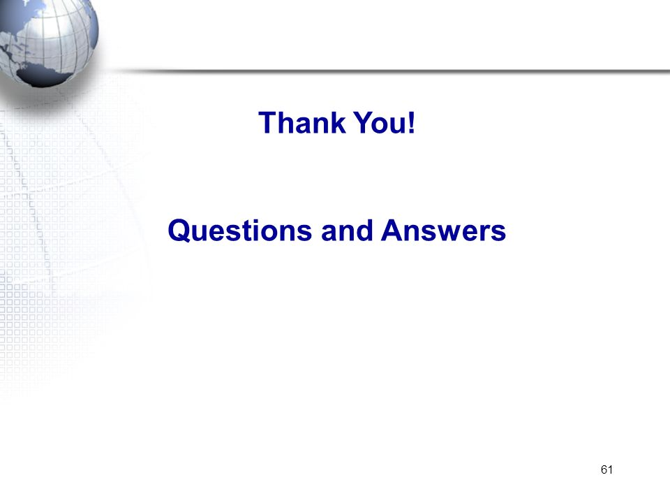 Thank You! Questions and Answers
