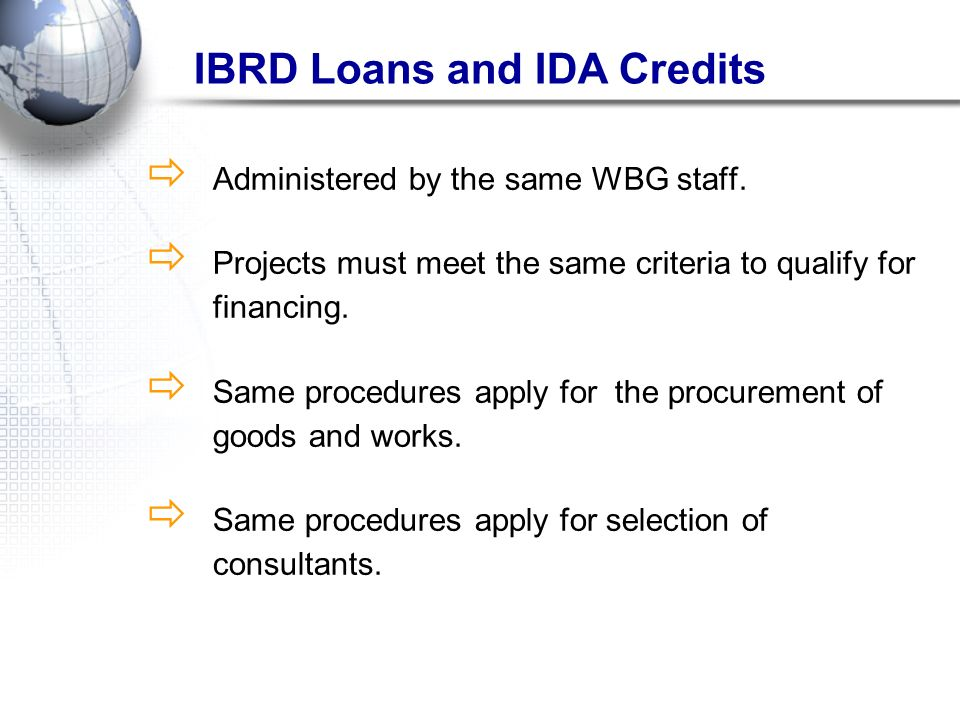 IBRD Loans and IDA Credits