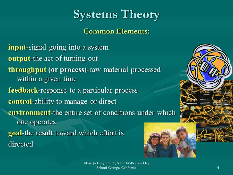 Systems Theory Common Elements:
