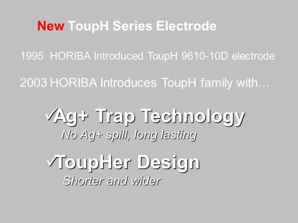 Ag+ Trap Technology ToupHer Design New ToupH Series Electrode