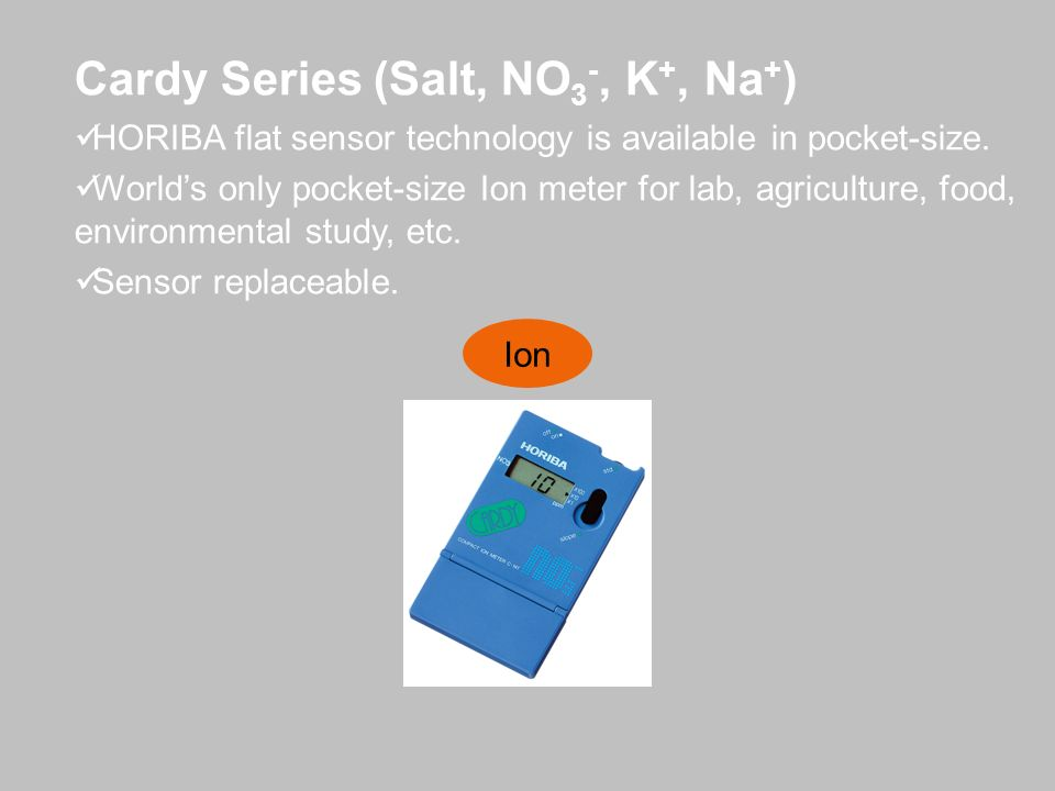 Cardy Series (Salt, NO3-, K+, Na+)