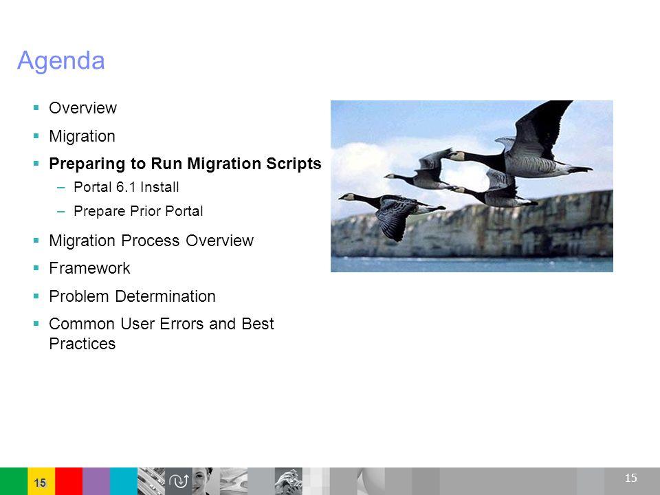 Agenda Overview Migration Preparing to Run Migration Scripts