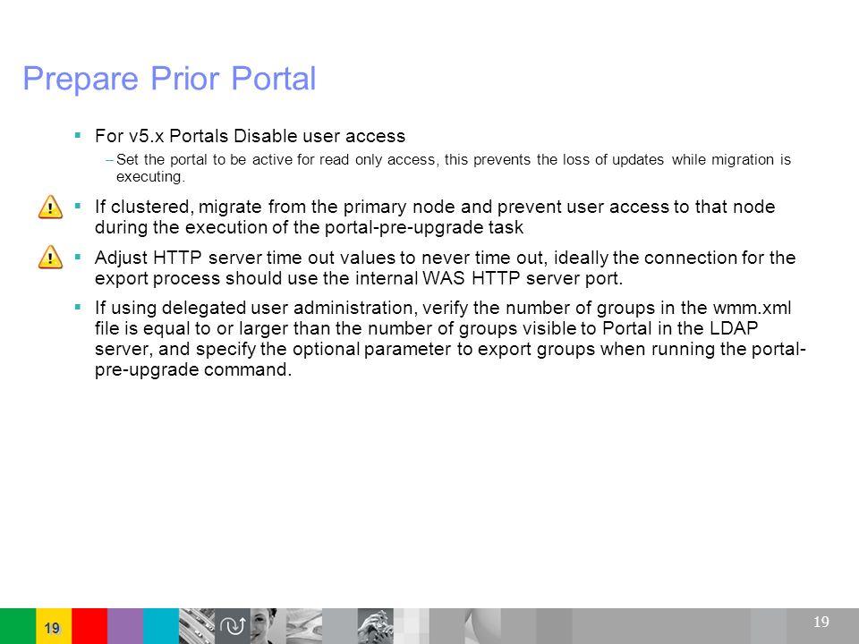 Prepare Prior Portal For v5.x Portals Disable user access