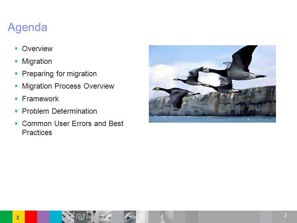 Agenda Overview Migration Preparing for migration