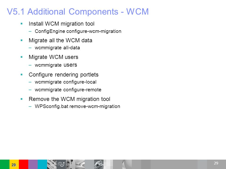 V5.1 Additional Components - WCM