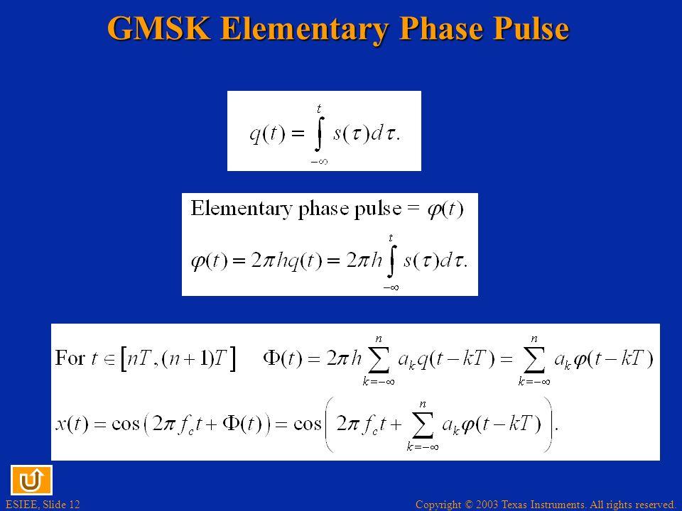 GMSK Elementary Phase Pulse
