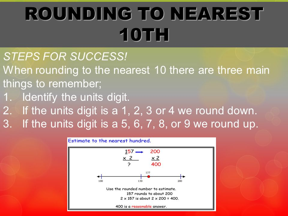 ROUNDING TO NEAREST 10TH STEPS FOR SUCCESS!