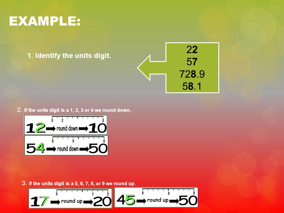 EXAMPLE: Identify the units digit.