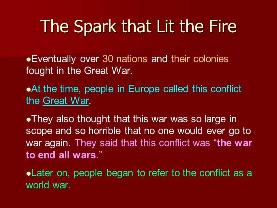 The Spark that Lit the Fire