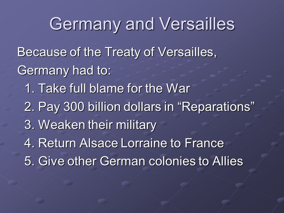 Germany and Versailles