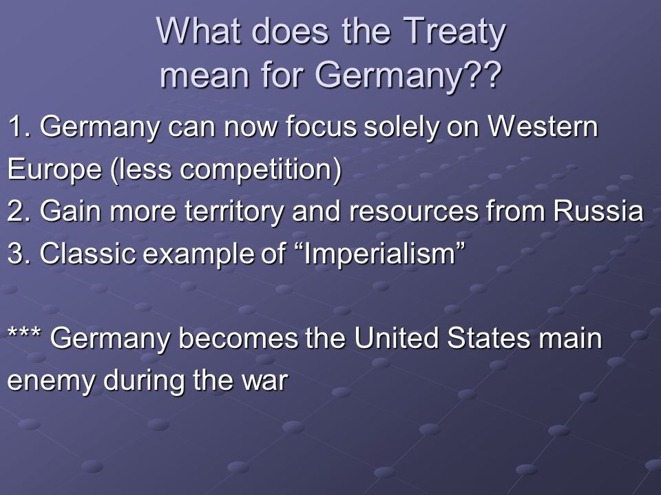 What does the Treaty mean for Germany