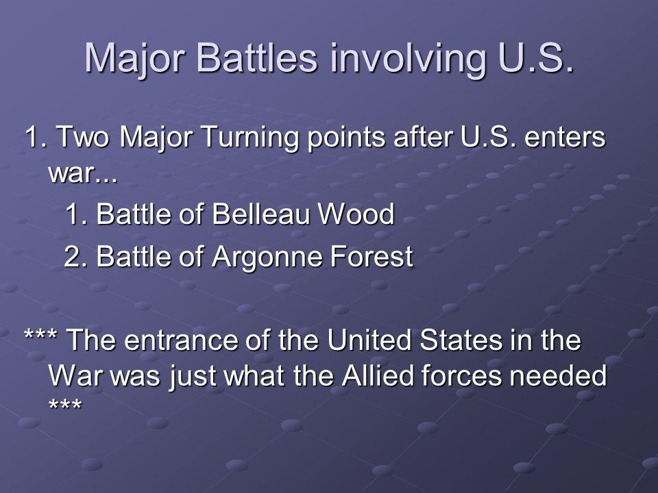Major Battles involving U.S.