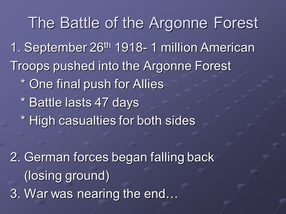 The Battle of the Argonne Forest