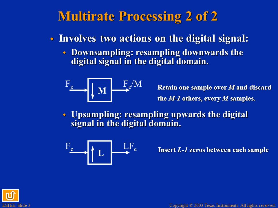 Multirate Processing 2 of 2