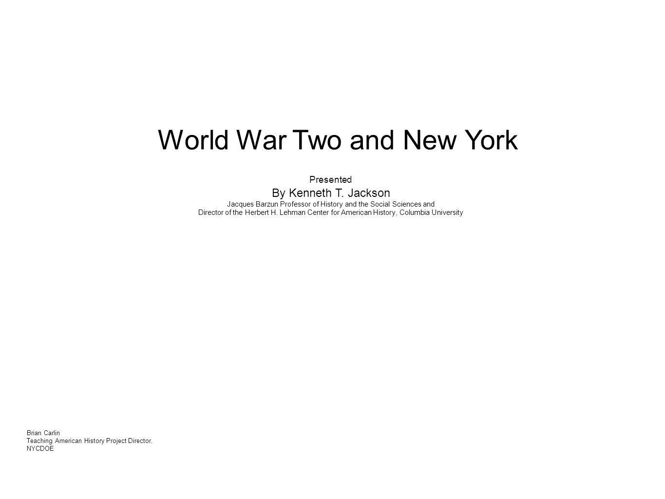 World War Two and New York
