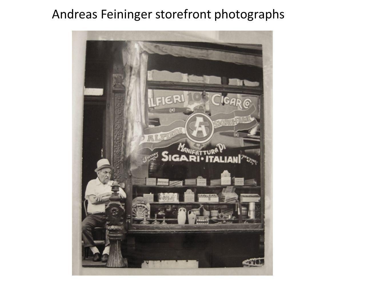 Andreas Feininger storefront photographs