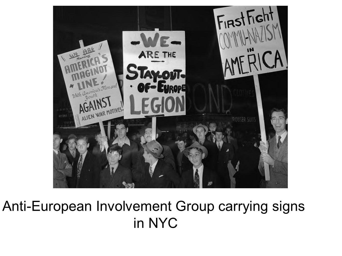 Anti-European Involvement Group carrying signs