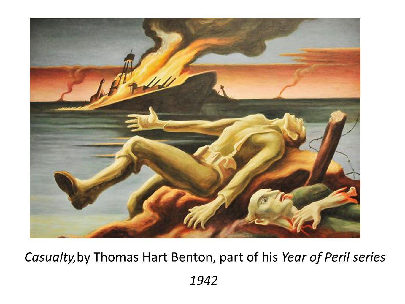 Casualty,by Thomas Hart Benton, part of his Year of Peril series