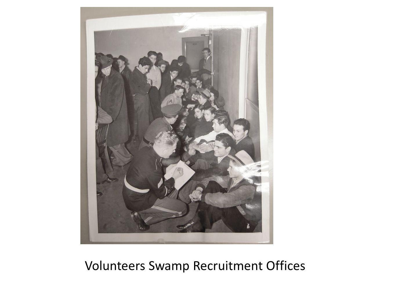 Volunteers Swamp Recruitment Offices