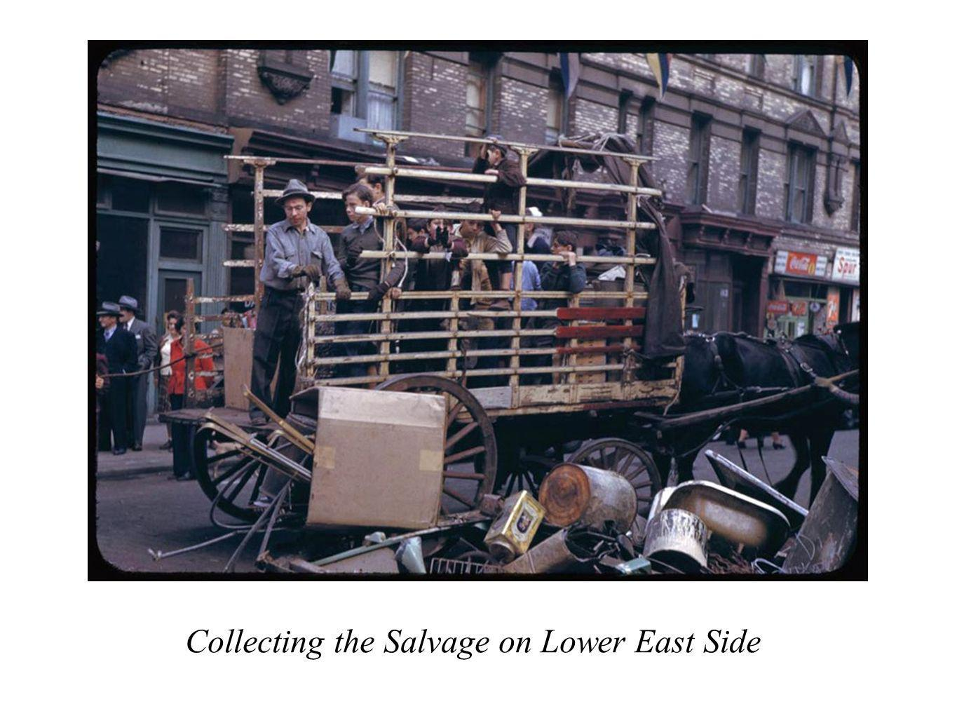 Collecting the Salvage on Lower East Side