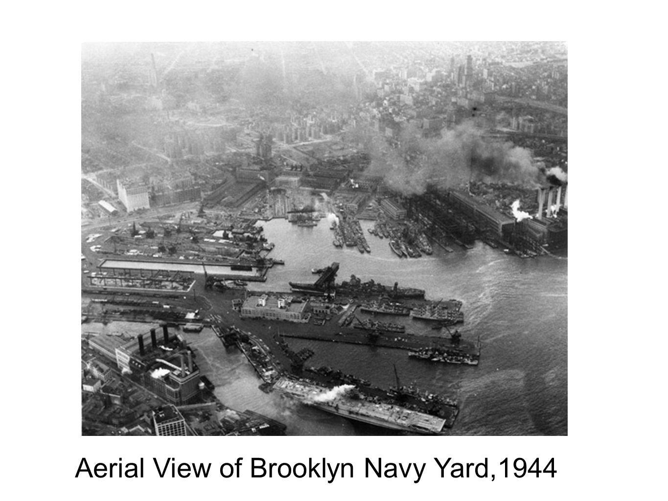 Aerial View of Brooklyn Navy Yard,1944