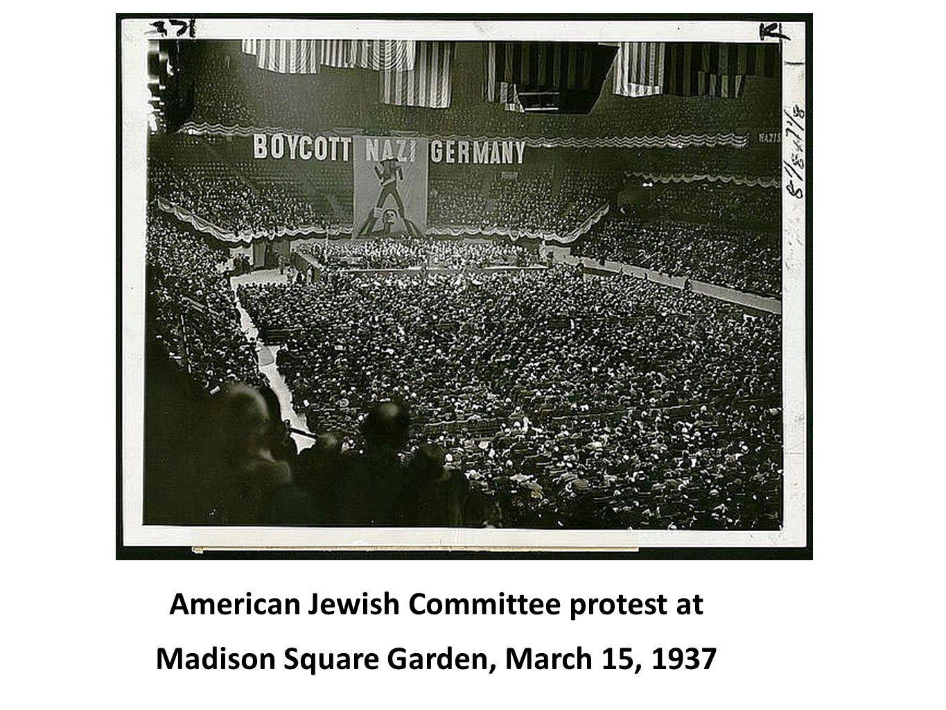 American Jewish Committee protest at
